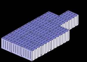 Figura 1.7. Representación del arreglo regular del polietileno dando origen a zonas cristalinas altamente ordenadas