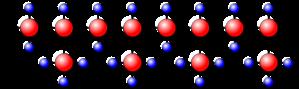 (a) Isotáctico: todos los grupos del mismo lado